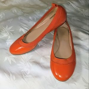 Banana Republic Orange PL Ballet Flats size 6